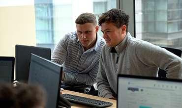 Recruiters collaborating